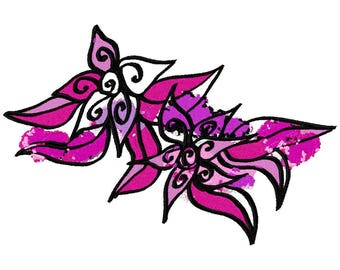 Floral Art Machine Embroidery Design by Letzrock  3121