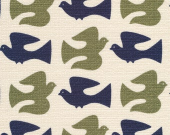 Cloud9 Holding Pattern On the Fly Olive Organic Cotton Barkcloth