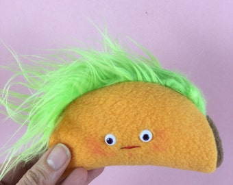 Plush Taco Toy on a Key Chain
