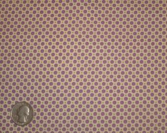 Purple, Mint, White Polka Dots 31142 110 Fabric by Lecien Retro 30's Child Smile
