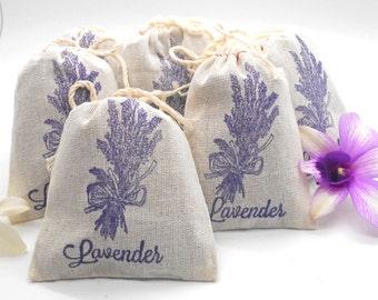 Lavender Sachets - 6 pack, Shower Favor, Wedding Favor, Teacher Gift, Hostess Gift, Thank You, Party Favor, Lavender Sachet, Lavender