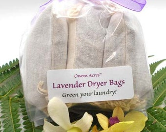 Lavender Dryer Bags - Set of 3  Green Your Laundry Naturally - Eco Friendly, Lavender, Lavender Dryer Bags, Laundry