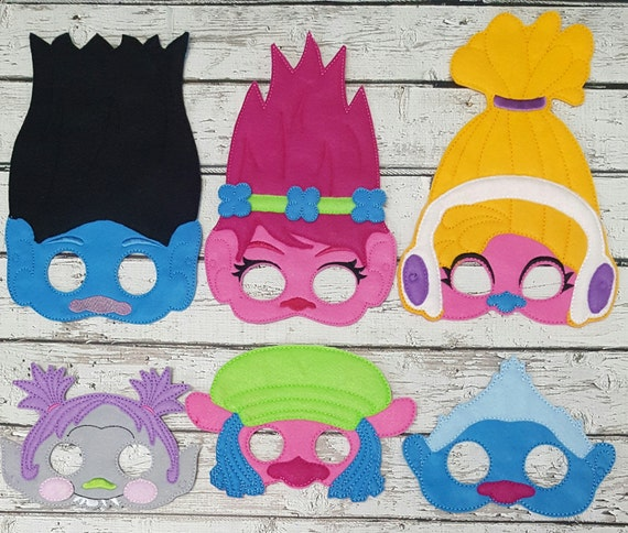 Troll Felt Birthday Party Photo Booth Props