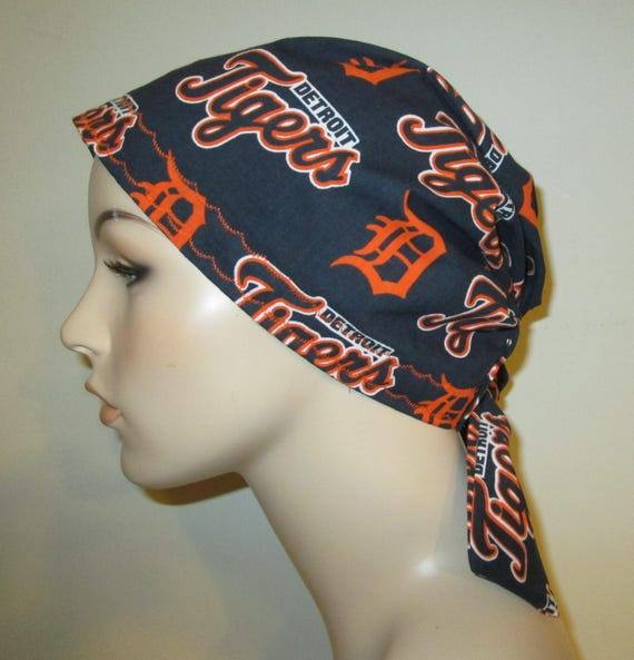 Scrub Cap  Chemo Cap Detroit Tigers Cancer, Chemo Hat, Turban, Hair Loss