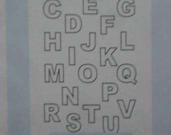 Wilton Alphabet Letters Candy Mold