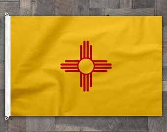 100% Cotton, Flag of New Mexico, Made in USA