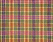 Cotton Homespun Fabric | Medium Plaid Fabric |  Rag Quilt Plaid Fabric | Homespun Fabric Sold By The Yard