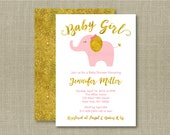 Cute Pink Elephant Baby S...