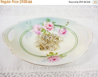 Holiday Sale Antique L.D.B. & Co. Handled Floral Oval Bowl Dish - Germany 1910