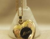 Heart Locket Mom 14 karat Gold Filled on Chain Vintage