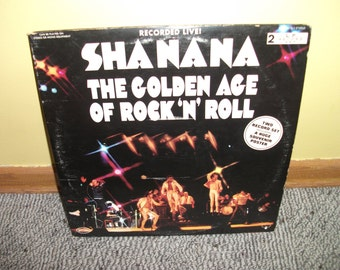 Sha Na Na The Golden Age of Rock and Roll Vinyl Record Album NEAR MINT Double Album Set