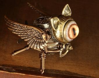 Steampunk Griffin Minion Robot Miniature Sculpture Robot