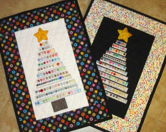 Pick 1 Selvage CHRISTMAS TREE Quilt from Quilts by Elena Selvages Buttons