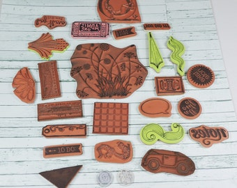 Cling Mounted and Acrylic Stamps 41 Pieces- Gently Used