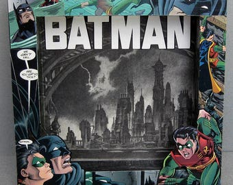 Comic Duo Super Hero Frame Dimensional Decorative Shadow Box Accent Piece Wall Hanging