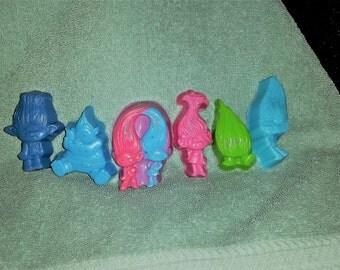 Little Troll Soap Set - Great gift idea, Stocking Stuffer,Birthday, Teacher Gift, Kids Soaps