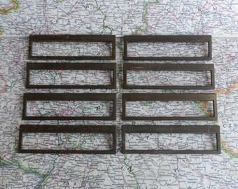 SALE! 8 wide mod vintage brass metal rectangle handles