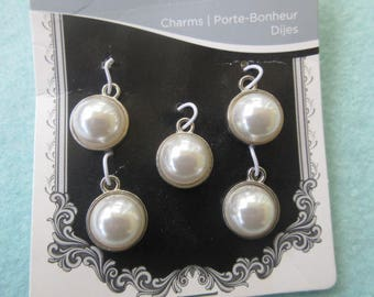 Pearl Charms, Brand New Pearl Charms, flat backed pearl charms,