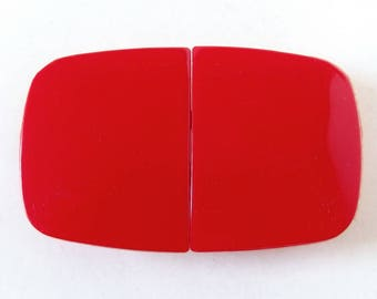 Vintage 1980's Red Plastic Buckle