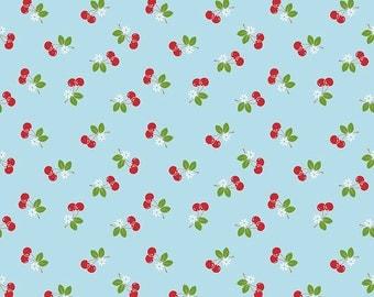 SALE!!  Sew Cherry 2 By Lori Holt Cherry Aqua (C5804-AQUA)
