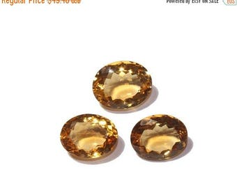 55% OFF SALE 3 Pcs Set AAA Natural Citrine Faceted Oval Cut Gemstones 11x9 - 12x10mm Match Pair & a Focal Pendant- Citrine Trio Ct14