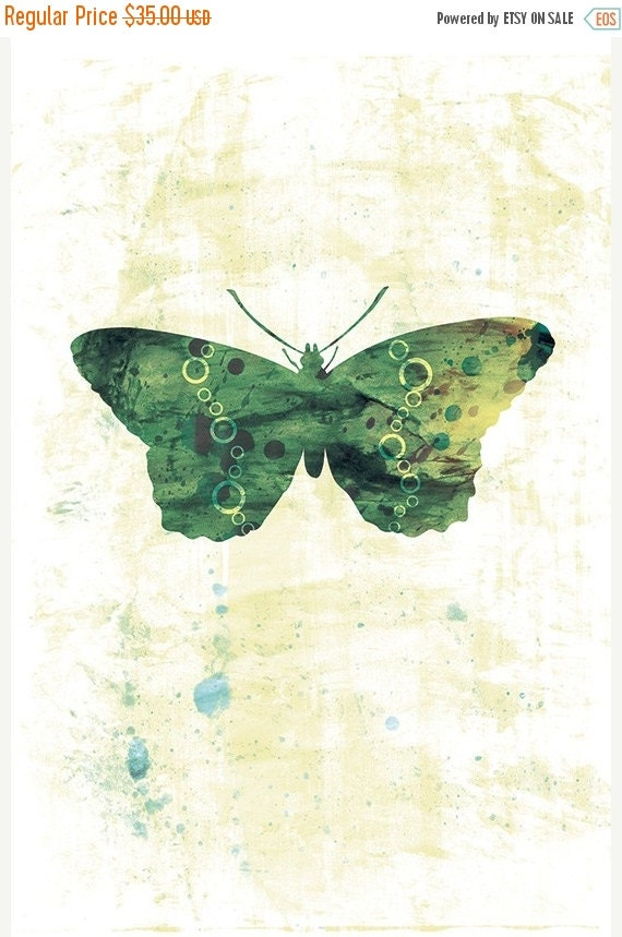 50% Off - Black Friday Jackie - Butterflies and Moths Series - 12x18