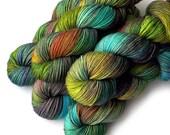 Hand Dyed Yarn Boston Bouncy Superfine Merino Silk Sport Yarn Amazonia