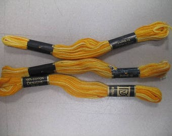 Yellow Ombre Embroidery Floss