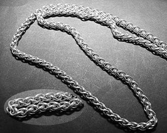 Sterling silver SPIGA Necklace chain 4mm 14 inch to 30 inch