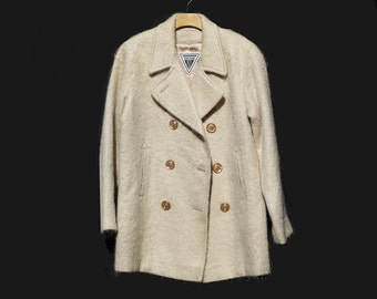 Vintage Cream Mohair Half Coat