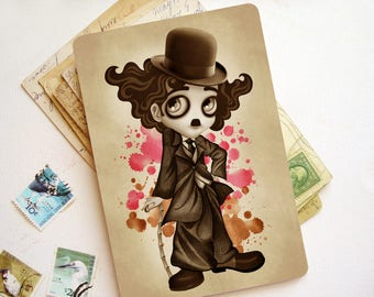 The Little Tramp Limited Edition Postcard Postcrossing - Charlie Chaplin Postcard