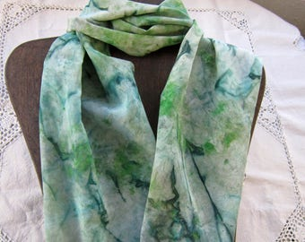 Pine Forest - Hand Painted Crepe de Chine Silk Scarf