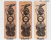 Abrasax genuine wood veneer art bookmark 6 x 2 inches