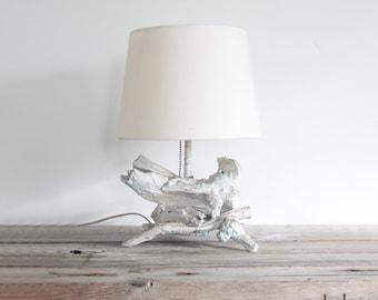 Sculptural Faux Driftwood Lamp
