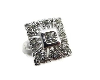 Art Deco Jewelry - Rhinestone Ring, 14k GE, Espo, Costume Jewelry