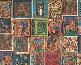 Illuminated Letters Alphabet Italian Paper ~ Kartos Italy K210
