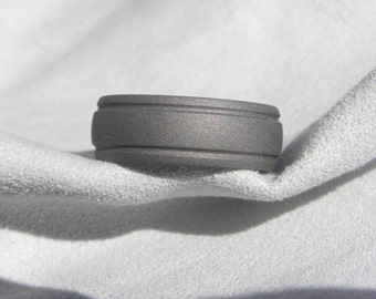 Titanium Ring, Wedding Band, Sandblasted, 8mm size 10, Clearance Listing