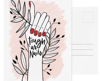 Tough As Nails Postcard - Single