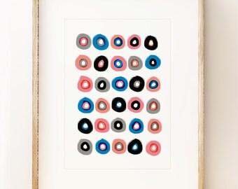 Donuts - abstract wall art print