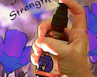 Inner Strength & Protection, Flower Essence Aromatherapy Spray, Organic with Reiki for Body and Aura, Caregiving, Codependency, Boundaries