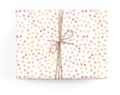 Coral Polkadots Gift Wrap Set