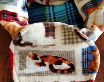 Snooze Sack for Cats - Plaid Cats
