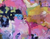 """MODERN ABSTRACT PAINTING """"Sydney"""" Acrylic on 22"""" x 30"""" heavy paper Ready to frame art Direct  from the studio of Elizabeth Chapman"""