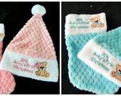 Baby's First Christmas Stocking and Hat set   ( 2016 )