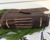 Warm brown simple leather journal by Binding Bee