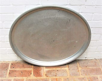Vintage Metal Tray Vintage Serving Tray Vintage Metal Platter Industrial Food Tray