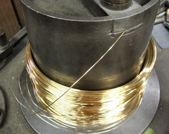 6 iNCHES 14K Yellow Solid Gold  24G  Round Wire Half Hard