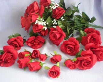 Sale Red Roses-Destash Roses-Red Rose Buds-Closeout Roses-Rose Bouquet