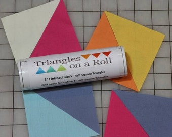 """Triangles on a Roll - 3"""" Finished Block Half-Square Triangles"""
