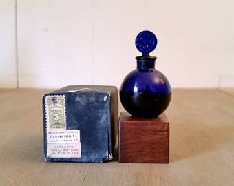 Vintage Bottle Dans La Nuit Worth Perfume Moon and Stars Top Original Box with Stamps Partially Full
